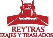 Logo de Reytras, alquiler de camiones con hidrogrúa para carga, descarga, izajes, traslados, trabajos en altuca con grúas